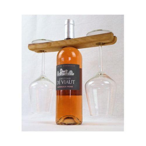 Présentoir à verre décoratif issu de douelles de barriques de vin des plus grands crus Bordelais
