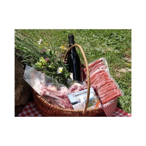 """Viande d'Agneau de plein air - Quart d'Agneau, découpé - Sous Vide (4-6kg) - Colis """"Mini"""""""