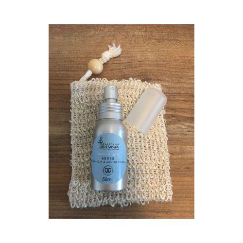 déodorant spray - hiver - palmarosa & menthe poivrée