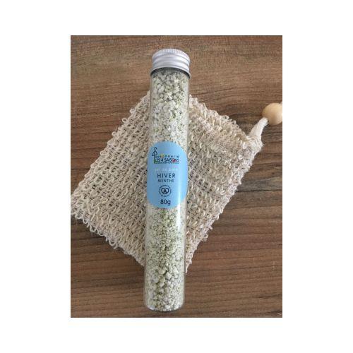 sel de bain - hiver - menthe