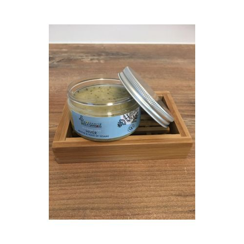 gommage corps - hiver - menthe & huile de sésame