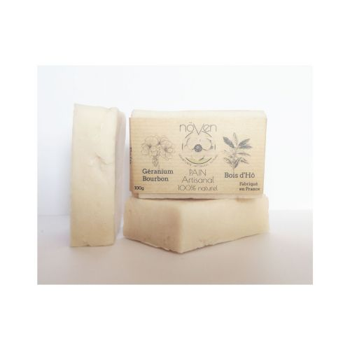 Pain Artisanal - Géranium Bourbon & Bois d'Hô - 60g