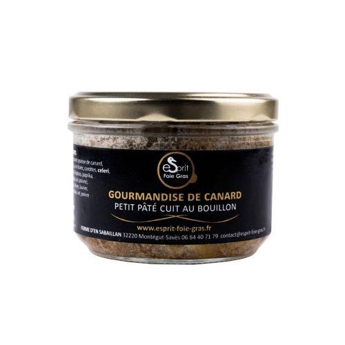 GOURMANDISE DE CANARD (PETIT PÂTÉ CUIT AU BOUILLON) 200 G