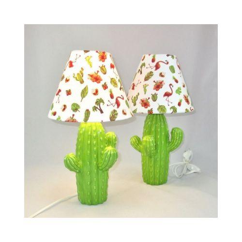 Abat Jour Cactus Lampes Blanc Céramique De Lampe Motif Fond Tropicalrêve nPvmNy8w0O