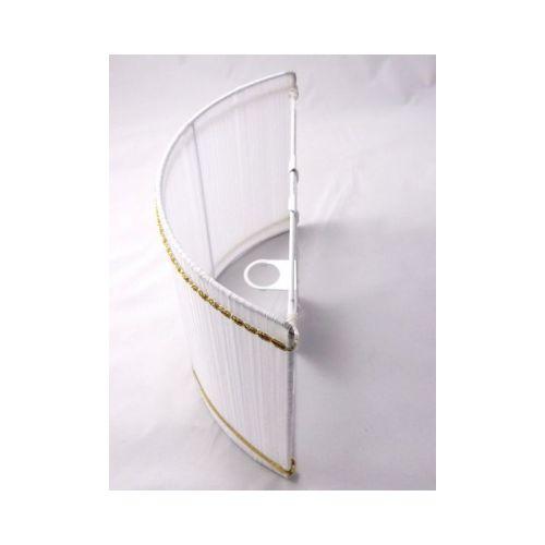 Applique organza blanc demi-lune 30 cm bordure galon dorés @Rêve de Lampes