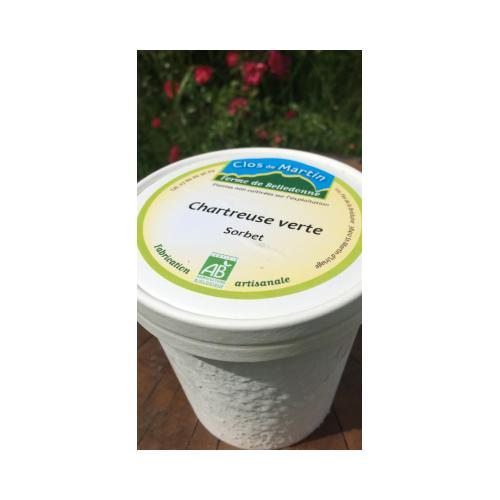 Sorbet artisanal bio Chartreuse