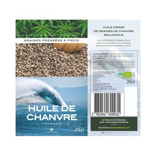 HUILE DE GRAINE DE CHANVRE BIO & FRANCAIS