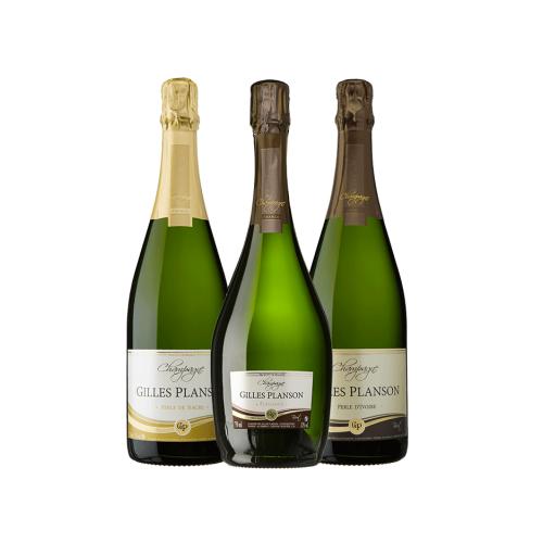 """Champagne trio de cuvées """"un Repas au Champagne"""" (Livraison incluse)"""