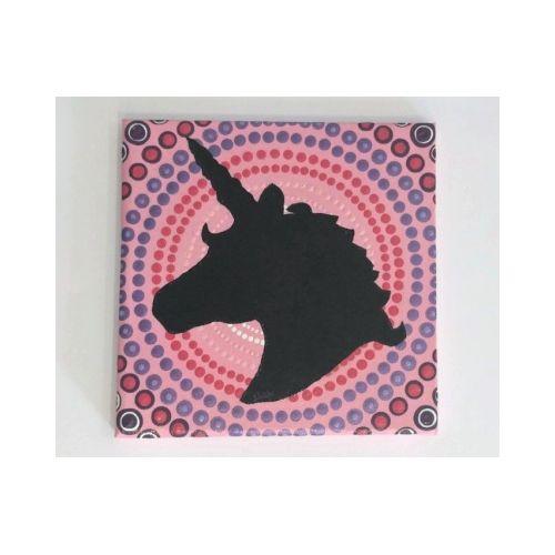 Tableau à l'acrylique Licorne