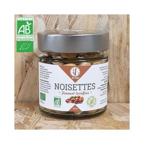Noisettes BIO finement Toastées, Non salées - 1kg