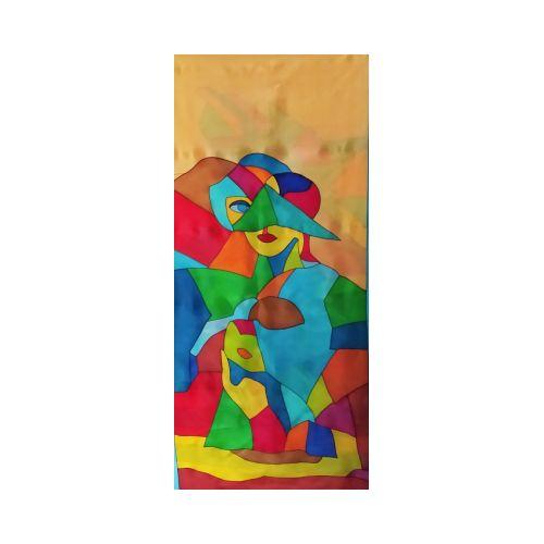 Echarpe en soie muticolore motif : femmes