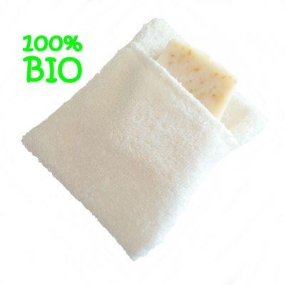 Moussette coton bio de couleur blanche